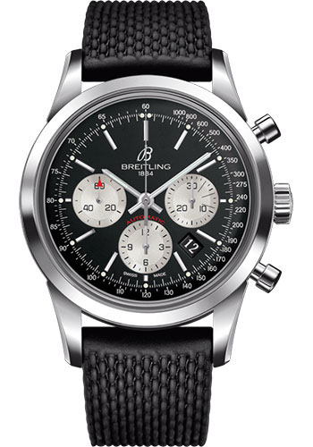 Breitling Watches - Transocean Chronograph Stainless Steel - Aero Classic Strap - Tang - Style No: AB015212/BF26/278S/A20S.1