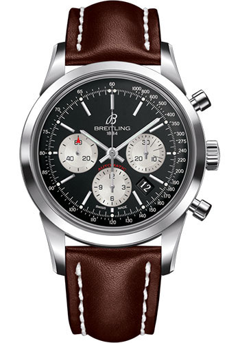 Breitling Watches - Transocean Chronograph Stainless Steel - Leather Strap - Deployant - Style No: AB015212/BF26/438X/A20D.1