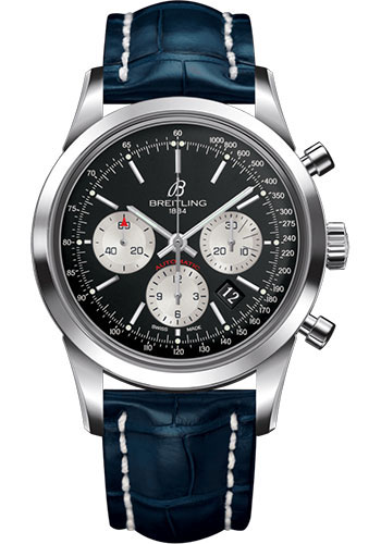 Breitling Watches - Transocean Chronograph Stainless Steel - Croco Strap - Tang - Style No: AB015212/BF26/731P/A20BA.1
