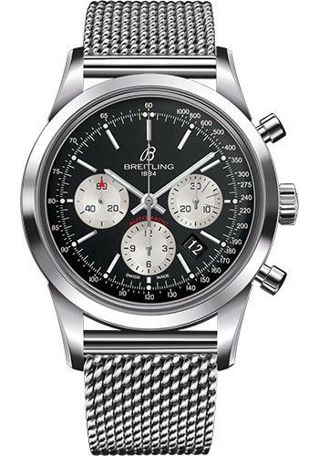 Breitling Watches - Transocean Chronograph Stainless Steel Bracelet - Style No: AB015212/BF26-ocean-classic-steel