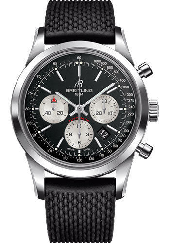 Breitling Watches - Transocean Chronograph Stainless Steel - Aero Classic Strap - Deployant - Style No: AB0152121B1S1