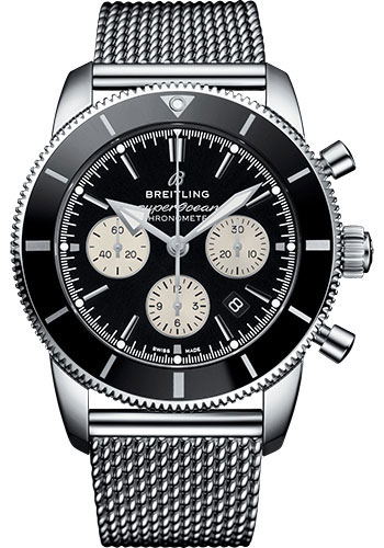 Breitling Watches - Superocean Heritage II B01 44mm - Stainless Steel - Aero Classic Bracelet - Style No: AB0162121B1A1