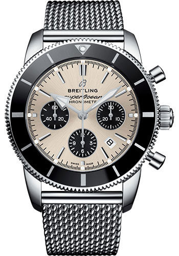 Breitling Watches - Superocean Heritage II B01 44mm - Stainless Steel - Aero Classic Bracelet - Style No: AB0162121G1A1