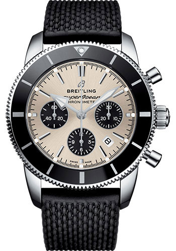 Breitling Watches - Superocean Heritage II B01 44mm - Stainless Steel - Rubber Aero Classic Strap - Style No: AB0162121G1S1