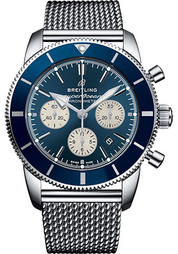 Breitling Watches - Superocean Heritage II B01 44mm - Stainless Steel - Aero Classic Bracelet - Style No: AB0162161C1A1