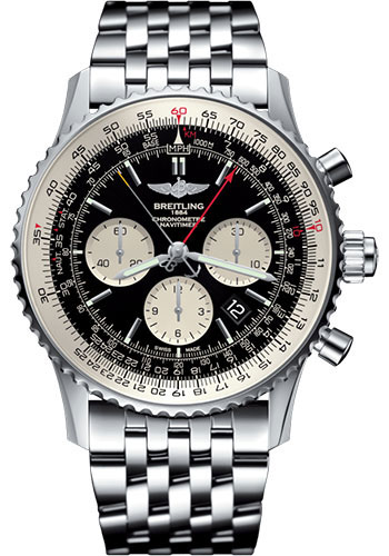 Breitling Watches - Navitimer B03 Chronograph Rattrapante 45 Stainless Steel - Navitimer Bracelet - Style No: AB031021/BF77/453A