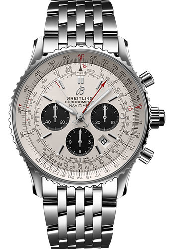 Breitling Watches - Navitimer B03 Chronograph Rattrapante 45 Stainless Steel - Navitimer Bracelet - Style No: AB0310211G1A1