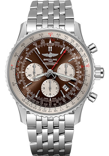 Breitling Watches - Navitimer B03 Chronograph Rattrapante 45 Stainless Steel - Navitimer Bracelet - Style No: AB0310211Q1A1