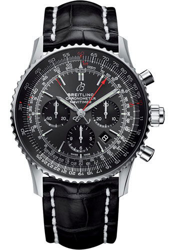 Breitling Watches - Navitimer B03 Chronograph Rattrapante 45 Stainless Steel - Croco Strap - Deployant - Style No: AB03102A1F1P1