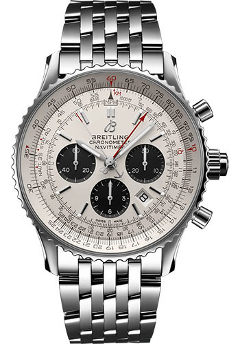 Breitling Watches - Navitimer B03 Chronograph Rattrapante 45 Stainless Steel - Metal Bracelet - Style No: AB0311211G1A1