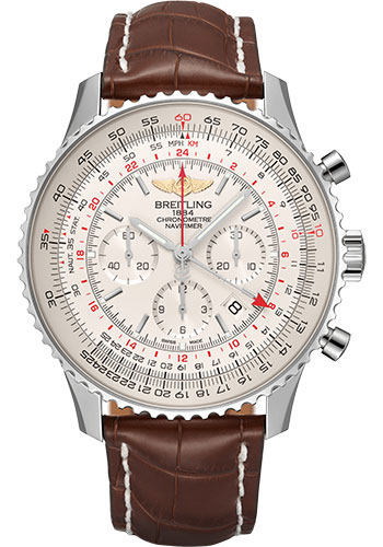 Breitling Watches - Navitimer B04 Chronograph GMT 48 Stainless Steel - Croco Strap - Tang - Style No: AB0441211G1P1