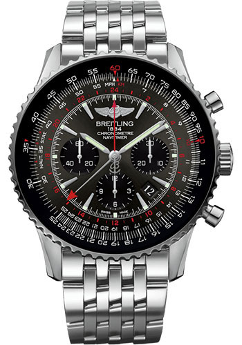 Breitling Watches - Navitimer B04 Chronograph GMT 48 Stainless Steel - Navitimer Bracelet - Style No: AB04413A/F573/453A