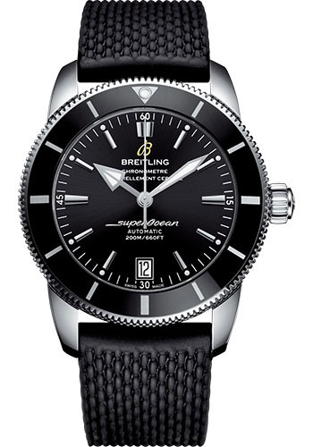 Breitling Watches - Superocean Heritage II B20 44mm - Stainless Steel - Rubber Aero Classic Strap - Style No: AB2010121B1S1