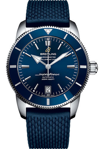 Breitling Watches - Superocean Heritage II B20 44mm - Stainless Steel - Rubber Aero Classic Strap - Style No: AB2010161C1S1