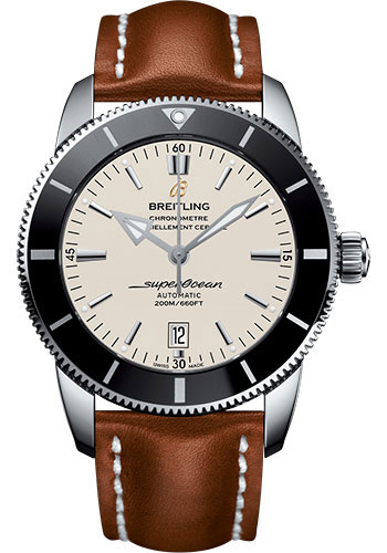 Breitling Watches - Superocean Heritage II 46mm - Stainless Steel - Leather Strap - Tang - Style No: AB202012/G828/439X/A20BA.1