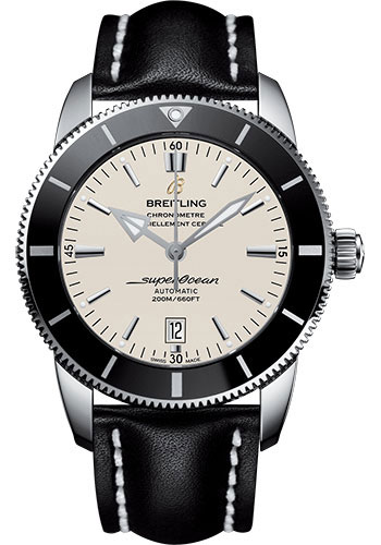 Breitling Watches - Superocean Heritage II 46mm - Stainless Steel - Leather Strap - Tang - Style No: AB202012/G828/441X/A20BA.1