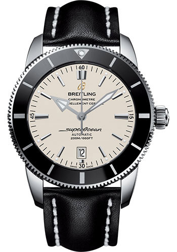 Breitling Watches - Superocean Heritage II 46mm - Stainless Steel - Leather Strap - Deployant - Style No: AB202012/G828/442X/A20D.1