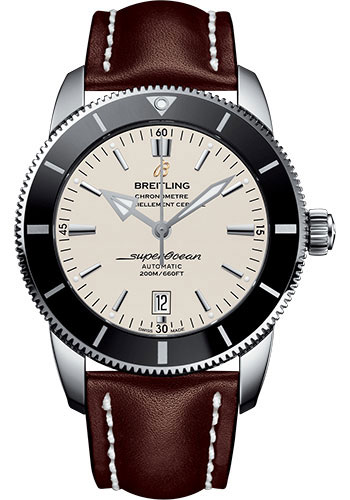 Breitling Watches - Superocean Heritage II 46mm - Stainless Steel - Leather Strap - Tang - Style No: AB202012/G828/443X/A20BA.1