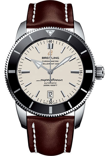 Breitling Watches - Superocean Heritage II 46mm - Stainless Steel - Leather Strap - Deployant - Style No: AB202012/G828/444X/A20D.1