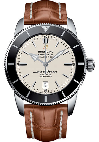 Breitling Watches - Superocean Heritage II 46mm - Stainless Steel - Croco Strap - Tang - Style No: AB202012/G828/754P/A20BA.1