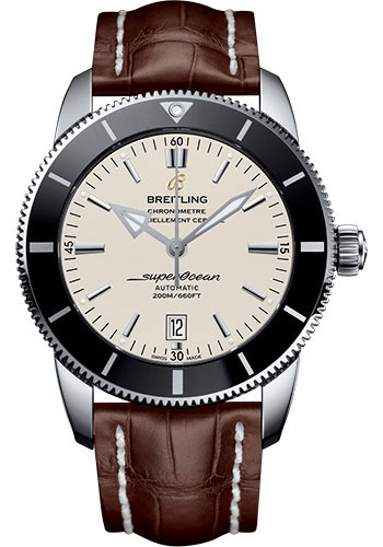 Breitling Watches - Superocean Heritage II 46mm - Stainless Steel - Croco Strap - Tang - Style No: AB202012/G828/756P/A20BA.1