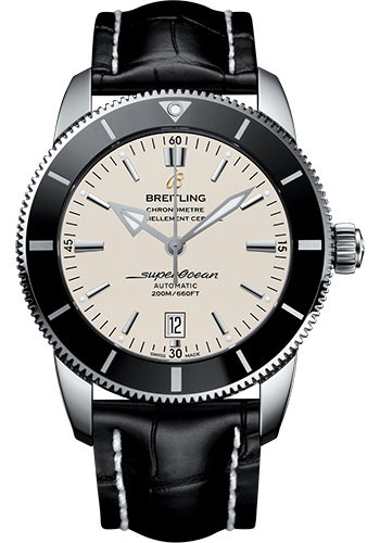 Breitling Watches - Superocean Heritage II 46mm - Stainless Steel - Croco Strap - Tang - Style No: AB202012/G828/760P/A20BA.1