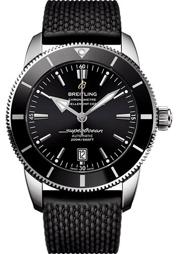 Breitling Watches - Superocean Heritage II B20 46mm - Stainless Steel - Rubber Aero Classic Strap - Style No: AB2020121B1S1