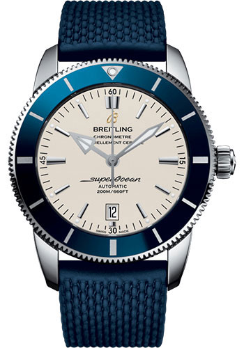 Breitling Watches - Superocean Heritage 46 Aero Classic rubber Strap - Tang - Style No: AB202016/G828/277S/A20S.1