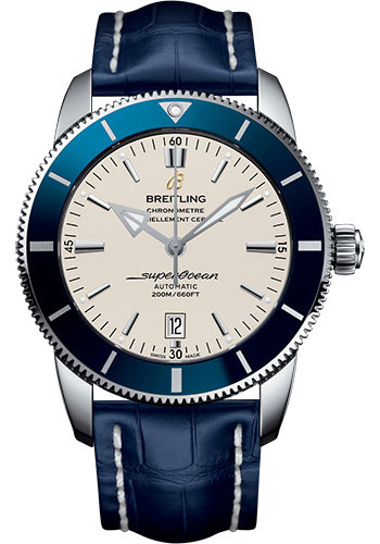 Breitling Watches - Superocean Heritage II 46mm - Stainless Steel - Croco Strap - Deployant - Style No: AB202016/G828/747P/A20D.1