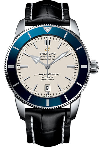 Breitling Watches - Superocean Heritage II 46mm - Stainless Steel - Croco Strap - Tang - Style No: AB202016/G828/760P/A20BA.1