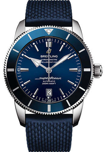 Breitling Watches - Superocean Heritage II B20 46mm - Stainless Steel - Rubber Aero Classic Strap - Style No: AB2020161C1S1