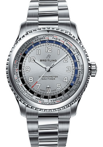 Breitling Watches - Aviator 8 B35 Automatic Unitime 43 Stainless Steel - Metal Bracelet - Style No: AB3521U01G1A1