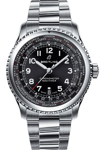 Breitling Watches - Aviator 8 B35 Automatic Unitime 43 Stainless Steel - Metal Bracelet - Style No: AB3521U41B1A1