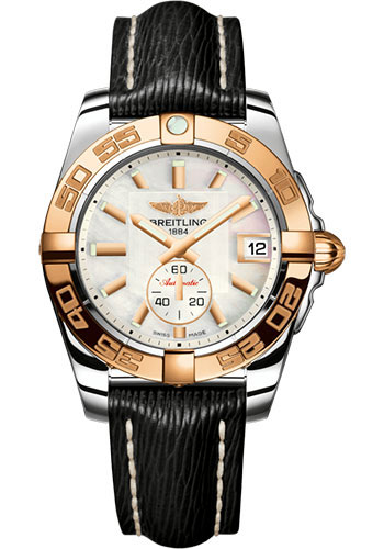 Breitling Watches - Galactic 36 Automatic Steel-Rose Gold - Sahara Strap - Style No: C3733012/A724/213X/A16BA.1