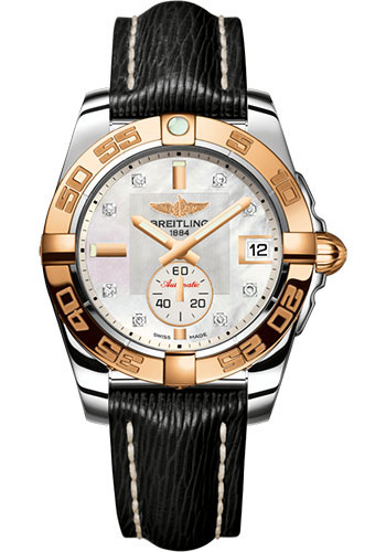 Breitling Watches - Galactic 36 Automatic Steel-Rose Gold - Sahara Strap - Style No: C3733012/A725/213X/A16BA.1