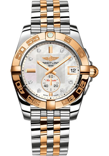 Breitling Watches - Galactic 36 Automatic Steel-Rose Gold - Pilot Bracelet - Style No: C37330121A2C1