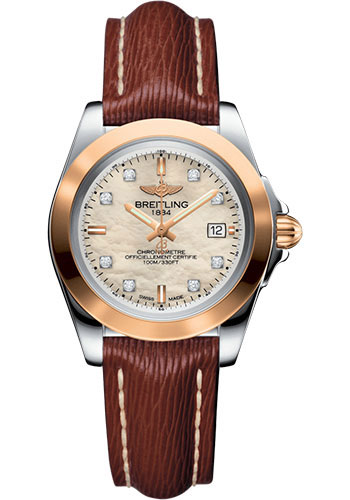 Breitling Watches - Galactic 32 Sleek Steel and Gold - Sahara Strap - Tang - Style No: C7133012/A803/211X/A14BA.1