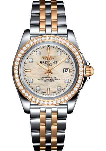 Breitling Watches - Galactic 32 Sleek Steel and Gold - Pilot Bracelet - Style No: C7133053/A803/792C