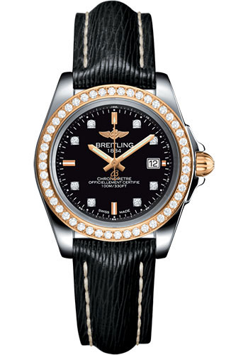 Breitling Watches - Galactic 32 Sleek Steel and Gold - Diamond Bezel - Sahara Strap - Tang - Style No: C7133053/BF64/208X/A14BA.1