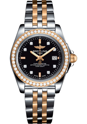 Breitling Watches - Galactic 32 Sleek Steel and Gold - Pilot Bracelet - Style No: C7133053/BF64/792C