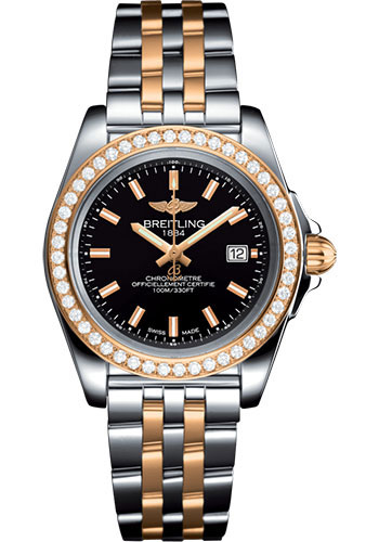 Breitling Watches - Galactic 32 Sleek Steel and Gold - Pilot Bracelet - Style No: C7133053/BF65/792C
