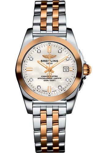 Breitling Watches - Galactic 29 SleekT Steel and Gold - Pilot Bracelet - Style No: C7234812/A792/791C