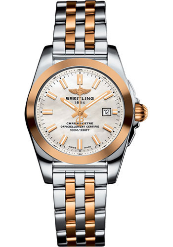 Breitling Watches - Galactic 29 SleekT Steel and Gold - Pilot Bracelet - Style No: C72348121A1C1
