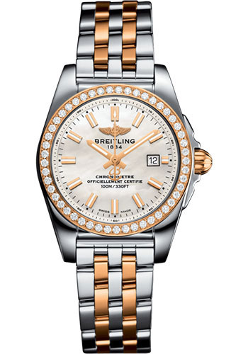 Breitling Watches - Galactic 29 SleekT Steel and Gold - Pilot Bracelet - Style No: C7234853/A791/791C