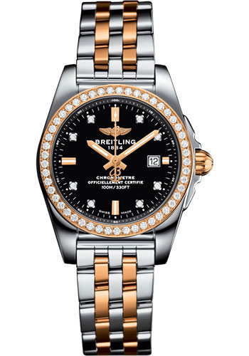 Breitling Watches - Galactic 29 SleekT Steel and Gold - Pilot Bracelet - Style No: C72348531B1C1