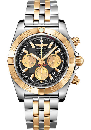 Breitling Watches - Chronomat 44 Steel and Rose Gold Polished Bezel - Pilot Two Tone Bracelet - Style No: CB0110121B1C1