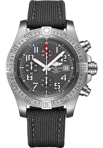 Breitling Watches - Avenger Bandit Military Strap - Tang Buckle - Style No: E13383101M2W1