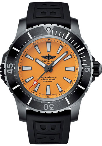 Breitling Watches - Superocean Automatic 48mm - Titanium - Diver Pro III Strap - Tang - Style No: E17369241I1S1