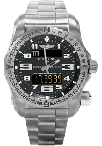 Breitling Watches - Emergency Titanium - Professional Bracelet - Style No: E76325U1/BC02/159E