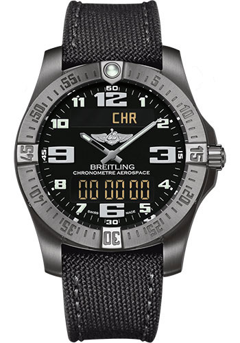 Breitling Watches - Aerospace Evo Military Strap - Tang Buckle - Style No: E7936310/BC27-military-anthracite-tang